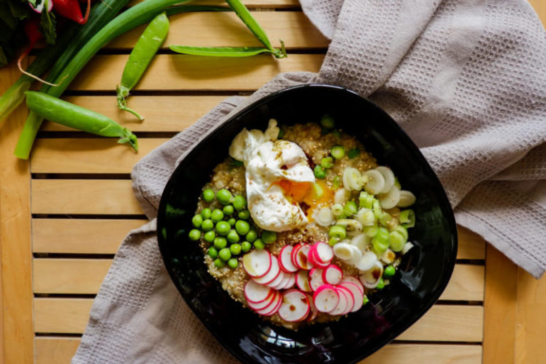 Rýžovo-quioová kaše